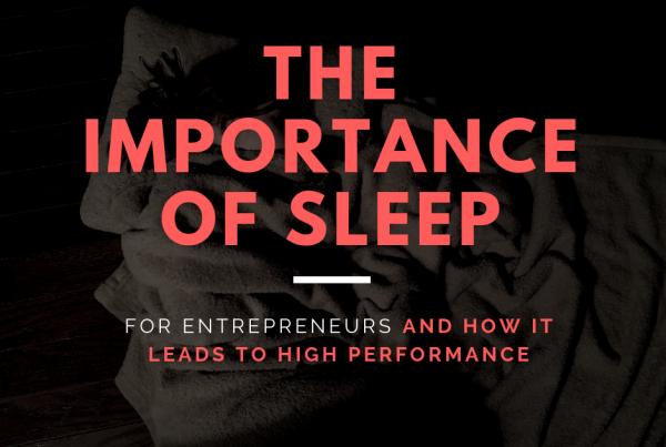 Sleep for Entrepreneurs