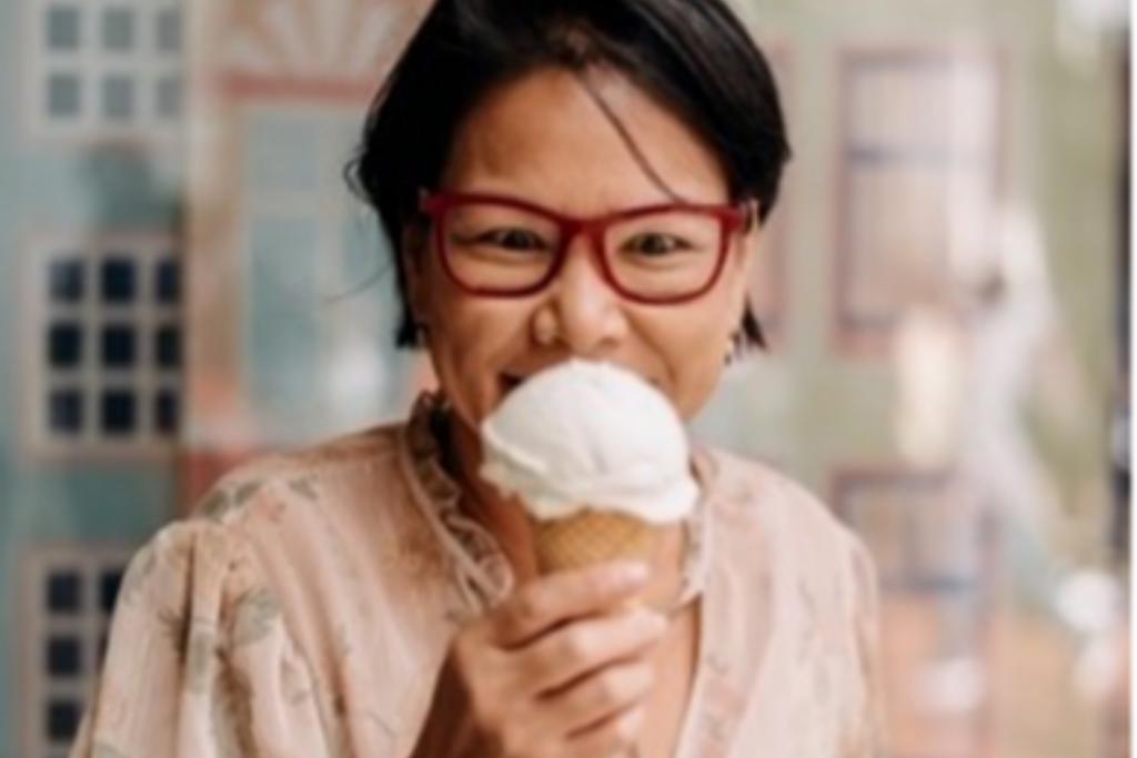 Trudi Yip with icecream