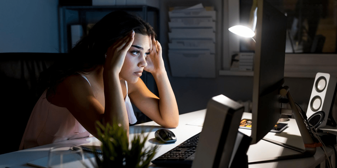 Employee stressed out